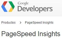 Analizar velocidad web con PageSpeed Insights